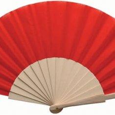 Eventail personnalisé Folklore rouge