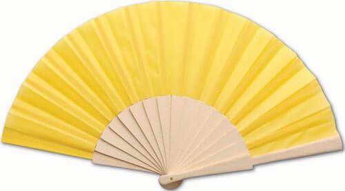 Eventail personnalisé Folklore jaune